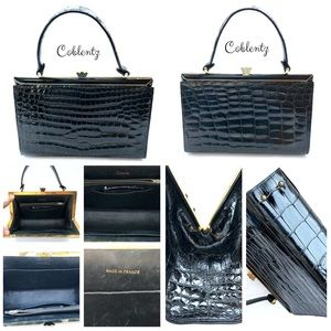 SOLD! Coblentz Women Alligator Black Handbag Purse